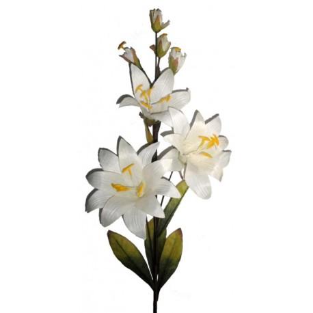 Die weiße Lilie aus Holz - Dolfi Weihnachtsdeko für draußen, diese Kreation ist in Gröden produziert