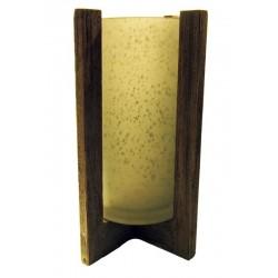Porta candela in vetro serigrafato