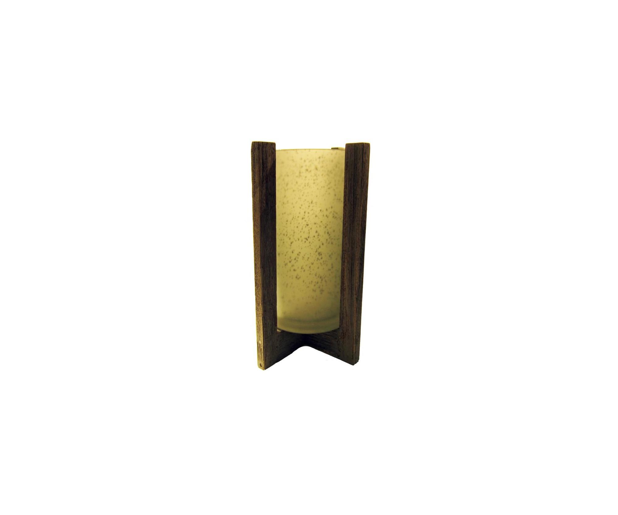 Porta candela in vetro serigrafato dolfi wood for Porta candela