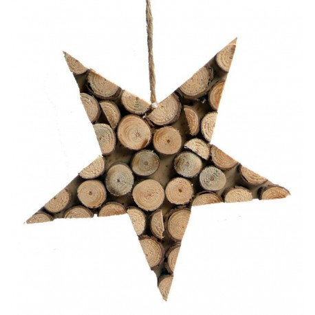 Wooden Star and Circles to Hang