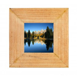 Photo frame in wood size 4 x 4 inches