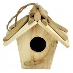 Vogelhaus aus Holz 17 x 14 x 18 cm