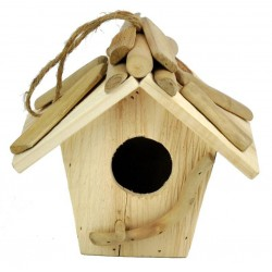 Wooden Bird House 17X14X18Cm - Dolfi 50Th Birthday Gifts for her - Made in Italy