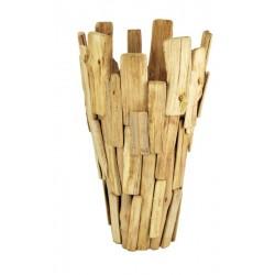 Grande vaso in legno rustico porta ombrelli