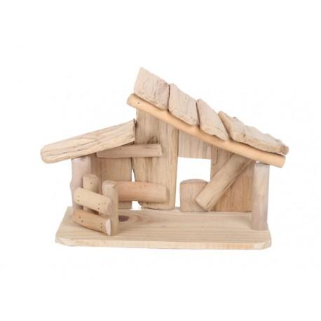 Hut in driftwood 30 x13 x 16 cm