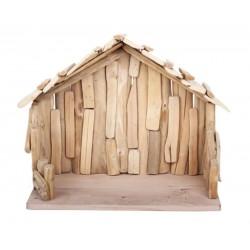 Capanna scolpita in legno 40 x 20 x 30 cm