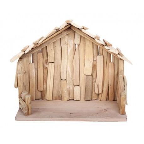 Hut in driftwood 40 x 20 x 30 cm