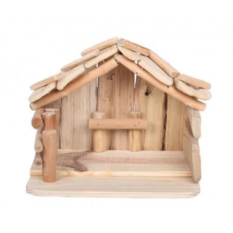 Capanna in legno 25 x 18 x 19 cm