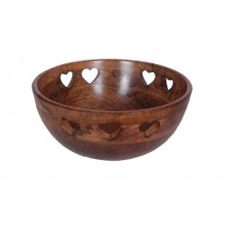 Bowl in Walnut 27 X 27 X 15 Cm - 10,8 X 10,8 X 6 inches - Dolfi Last Minute Valentine'S Day Gifts