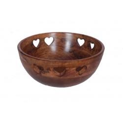 Bowl in walnut 27 x 27 x 15 cm - 10,8 x 10,8 x 6 inch