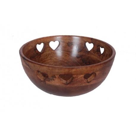 Bowl in Walnut 27 X 27 X 15 Cm - 10,8 X 10,8 X 6 inches - Dolfi Last Minute Valentine'S Day Gifts