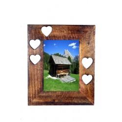 Portafoto scolpito in legno massello - Dolfi idee regalo originali, Ortisei