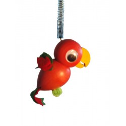 Parrot spring wood carved animal - Dolfi Birthday Present Ideas - Made in Italy
