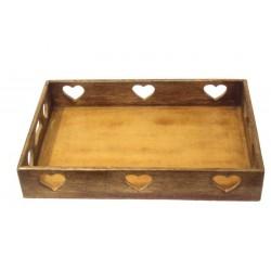 Walnut tray or bread box 38 cm x 38 cm - 15,2 x 15,2 inch - 7 h