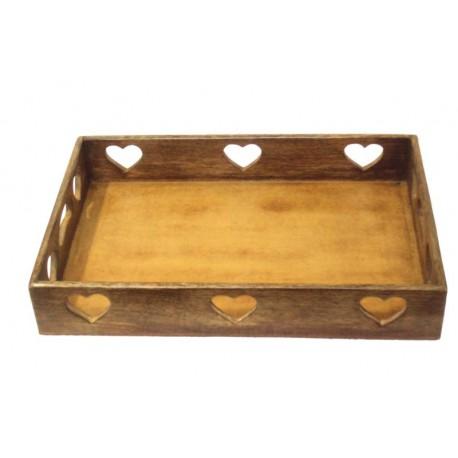Walnut Tray or Bread Box - 15,2 X 15,2 X 7 inches