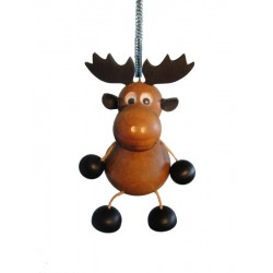 Elk spring wood carved animal - Dolfi Anniversary Gift Ideas - Made in Italy