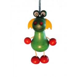 """Drachen aus Holz """"Hüpferlen"""" Schwingfigur mit Feder - 12 cm - Dolfi Geschenke zum Einzug"""