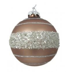 Pallina natalizia 9cm oro ed argento