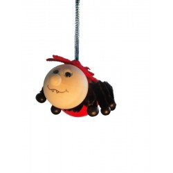 Hüpferle Spinne aus Holz Schwingfigur Federtier Hüpftier 12 cm, Dolfi Geschenkideen Mann