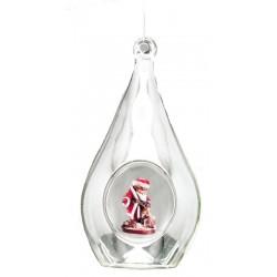 Kristall mit Weihnachtsmann