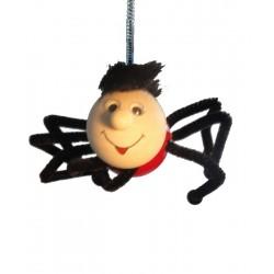 Spinne aus Holz Hüpferle als Schwingfigur Federtier Hüpftier - 12 cm, Dolfi Geburtstagsgeschenke Mama