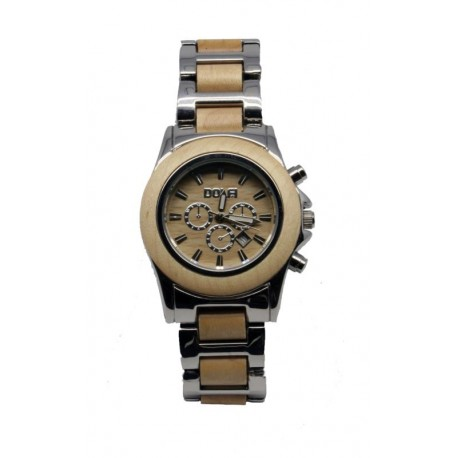 Wooden Watch for Woman in Nut wood and Steel – Dakota - Dolfi Birthday Gifts for Mum - Made in Italy