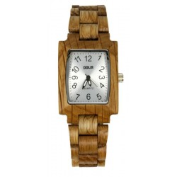 Wooden Watch Form Woman in Oak wood – Eve - Dolfi Wooden Watches for Men - Made in Italy