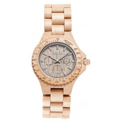Wood Watch for Man in maple wood – Jonathan - Dolfi wood Grain Watches - Made in Italy