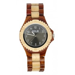 Wooden Watch for Boy and Girl Two-tone – Lienzo - Dolfi personalized Wooden Watch - Made in Italy