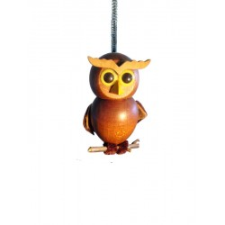 """Coquette wooden animal with spin 5"""" - Dolfi personalized - Made in Italy"""