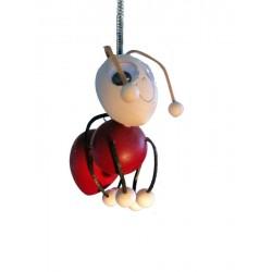 Ameise aus Holz als Hüpferle und Schwingfigur