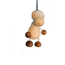 Schaf aus Holz als Hüpferle und Schwingfigur