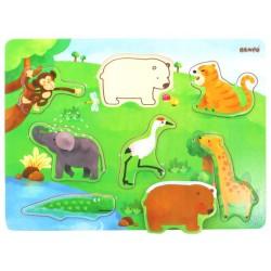 Puzzle per bambini in legno colorato