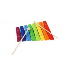 Xilofono scolpito in legno colorato