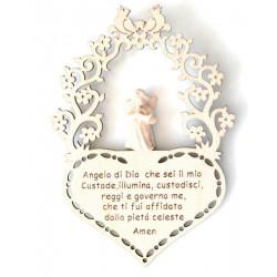 Schutzengel mit Gebet | Dolfi Geldgeschenke zur Hochzeit, diese Kreation ist in Gröden hergestellt