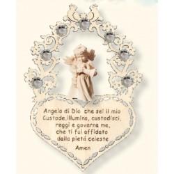 Schutzengel mit Gebet mit Swarovski; Dolfi Valentinstag Geschenke für Männer, Schnitzereien Südtirol