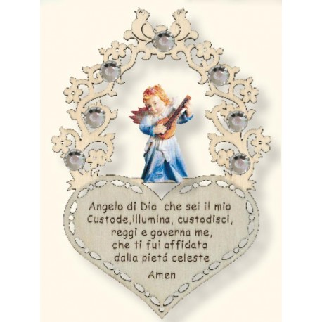 Guardian Angel with a little prayer Swarovski