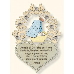Gebet für neugeborenen Jungen mit Swarovski; Dolfi Weihnachtsgeschenke für Mama, Schnitzerei Gröden