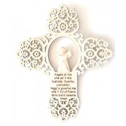 Kreuz mit Engel und Gebet - Dolfi Geschenke für Paare, diese Kreation ist in Gröden hergestellt
