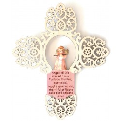 Cross with angel and little prayer