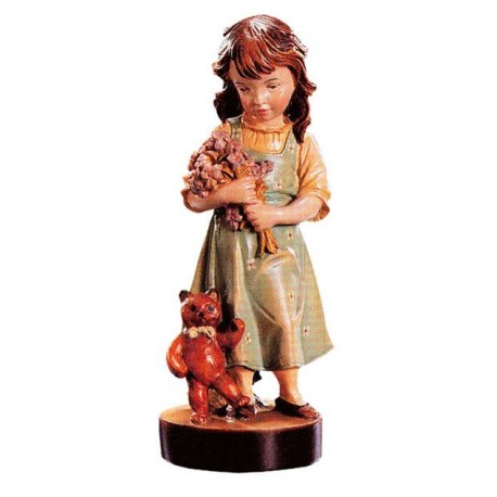 Carved wood Figure Girl for sale