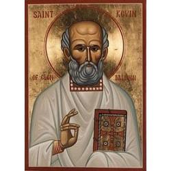 """St. Kevin (Coemgen) """"Abbot of Glendalough"""""""