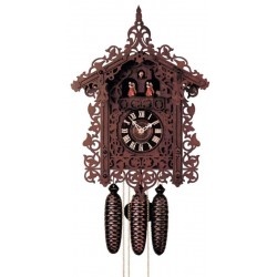Co Coo Clock carved Linden wood - Dolfi Present Ideas - Made in Italy