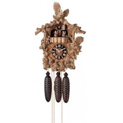 Orologio a cucù scolpito e decorativo