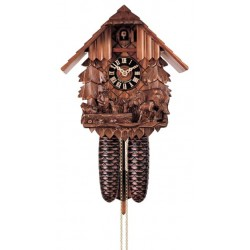 Kuckucksuhr - Dolfi Geschenke zur Taufe Junge, diese Holzskulptur ist eine edle Grödner Schnitzerei