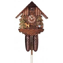 Kuckucksuhr - Dolfi Geschenk Opa, diese Holzfigur zählt zu den wichtigsten Grödner Holzschnitzereien