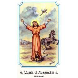 """Santa Quinta (Cointa) d'Alessandria""""Martire"""""""