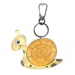Wooden keychain Snail