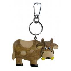 Kuh | Dolfi Schlüsselanhänger mit Gravur Holz, diese Holzskulptur ist eine edle Grödner Schnitzerei