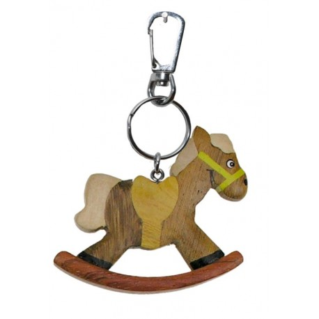 Wooden Keychain Rocking Horse - Dolfi Blank Wooden Key Rings - Made in Italy